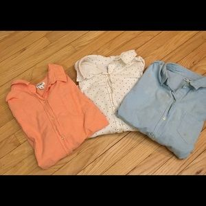 Collection of 3 Old Navy Oxford shirts